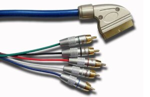 3M Mysky Scart to Component Audio Video Cable