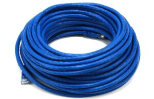 12M 24AWG Cat6 550MHz UTP Ethernet Bare Copper Network Cable - Blue-0