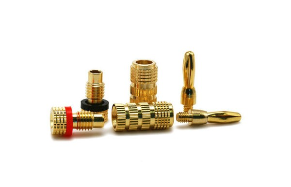 High-Quality Copper Speaker Banana Plugs - Closed Screw Type