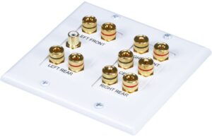 5.1 Surround Sound Distribution Wall Plate