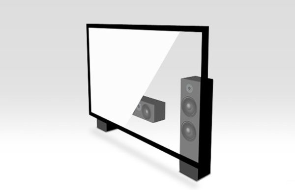 "120"" 2.35:1 Acoustic Fixed Frame Screen"