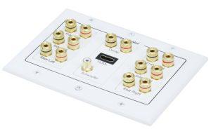 3-Gang 7.1 Surround Sound Distribution Wall Plate w/ HDMI