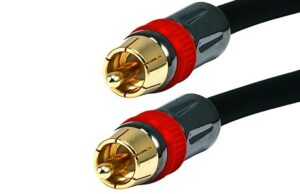 0.9M (3ft) High Quality Coaxial Audio/Video RCA to RCA-0