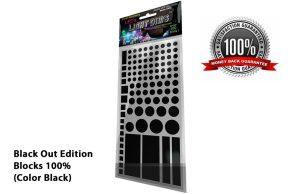 LightDims™ - Black Out Edition Blocks 100% (Colour Black)