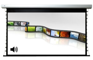 106inch 16:9 Acoustic Tab-tension Motorized Screen with RS232