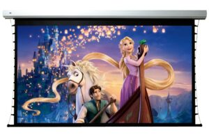 120 inch VistaView Flexible Motorized Tab-tensioned 16:9 Screen with RS232 Control