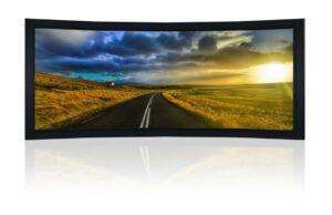 "160"" 2.35:1 Curved Cinemascope Acoustic Fixed Frame Screen - Black Velvet Frame"
