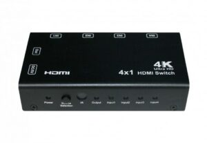 4x1 HDMI Switch with PIP, 4K, Remote Control