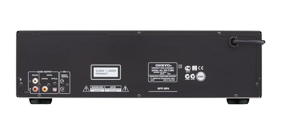 Onkyo DXC 390 6 CD Carousel Changer Back