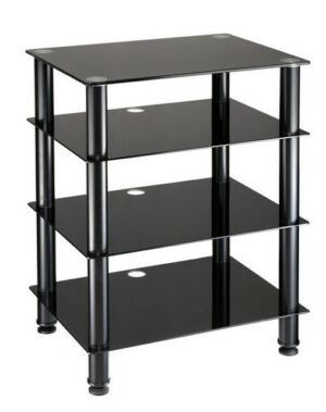 AVS AS04 Component Cabinet - 4 Glass Shelf, 600mm wide