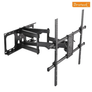 """BRATECK Full-motion TV Wall Mount for 50-90"""" Curved and Flat TVs"""