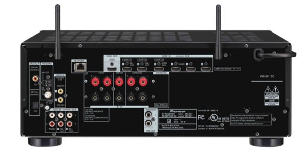 Pioneer VSX-831 5.2-Channel AV Receiver with MCACC®, built-in Bluetooth® and Wi-Fi®