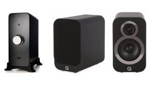 Q Acoustics 3010i & Audioengine N22 Amplifier