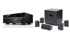 Elac Cinema 5 and Yamaha RX-V385 AV Receiver Bundle
